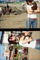 Take a walk with Hippie under sunlight !! (Twiggy Tu) Tags: beach me hippie taipei twiggy moviefilm photobybrad kodak250d lomopeoplelomolife ishootkodakfilm fujiwidehalf