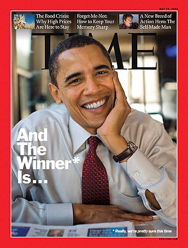 Obama on cover of Time Magazine