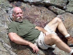 gary resting on the summit of monadnock (NH woodchuck) Tags: hiking gary grandmonadnock