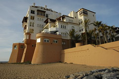 Facing the ocean... (i Catch) Tags: sunset beach architecture atlantic resort morocco plage andalousie rabat oceanfront balneaire mghayar themestandstill