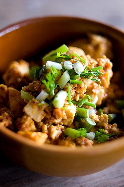 A Shan-style salad of tofu, Baan Phleng, Mae Hong Son, Thailand