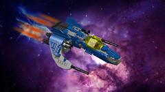 Scarab fast interceptor (CK-MCMLXXXI) Tags: lego moc starfighter interceptor ldd digital starship space