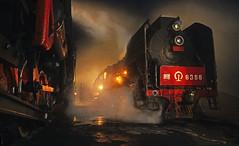 STEAM UP CLOSE (dayvmac) Tags: chinesesteam daban jingpeng steam steamtrain steamlocomotive railway