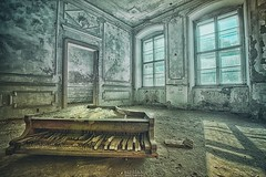 play me (Szydlak Szk) Tags: abandoned derelict forgotten old piano music instrument window architecture interior urbex urbanexploration decay decayed decaying defunct deteriorated desolate dead death destroyed dilapidated dirty dusty windows door texture szydlak szk broken keys sunny shadow nostalgia nostalgic vintage
