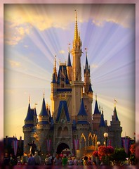 Where dreams come true.. (Christie Spad) Tags: castle beauty happy orlando peace florida sony cybershot disney sparkle disneyworld cinderella sunbeams theworldwelivein beautyunnotice yourphototips picnikpics a7lagroup