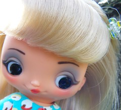 Luna (Brentments) Tags: silly beautiful wearing goofy outdoors march spring mod 60s doll dress belgium sweet gorgeous luna creation acorn april apples 1960s unica 2010 1960 faerymade