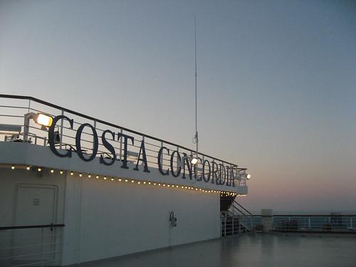 Cubierta del Crucero Costa Concordia