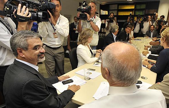 Bancada do PT reunida. Foto: José Cruz / Agência Brasil.