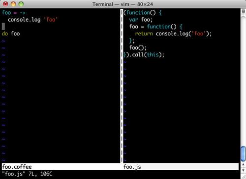 Terminal — vim — 80×24