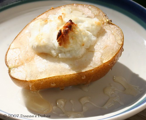 Baked Pears with Goat Cheese and Honey
