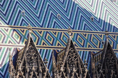 Colorful tiled roof of Stephansdom I