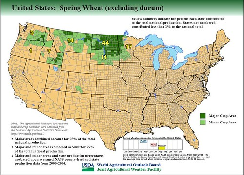 Major Wheat Growing Regions In The Us Reference Maps