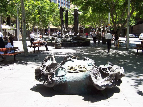 Children's Fountain Herald Square Alfred Street Sydney