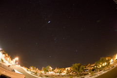 Fisheye view of a meteor and other night-time goodies (sdscott) Tags: newmexico fisheye astrophotography 5d astronomy canon5d comet zenitar meteor zenitar16mmf28fisheye