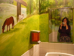 Day 150: Another restroom with murals