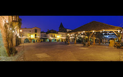Monpazier at the blue hour Panorama (David Giral | davidgiralphoto.com) Tags: old blue sky chien david france english history architecture rural evening nikon war europe village dusk cent dordogne villages medieval hundred hour entre loup years bluehour prigord d200 middle guerre et ans ages hdr heure bastide giral mdival monpazier magique nikond200 edwardi anglaise 18200mmf3556gvr entrechienetloup tthdr plusbeauxvillagesdefrance copyrightdgiral davidgiral pitorresque pitorresques ruraux