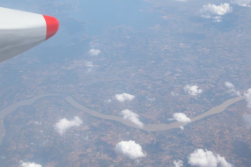 Mekong River From The Air, Laos