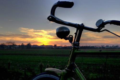 HDR Bici Tramonto