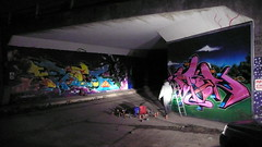 The Tunnel (Heavy Artillery) Tags: graffiti artillery heavy aroe jiroe