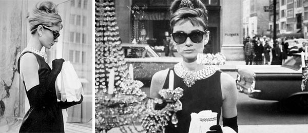 holly golightly, audrey hepburn, breakfast at tiffany, truman capote, fashion, dress, jewelry, chic and charming