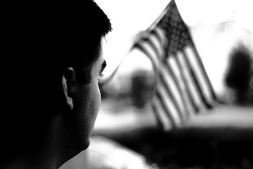 Flag in bw
