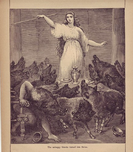 Circe, with Odysseus's sailors turned to swine