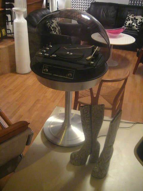 Space Age Turntable with Boots