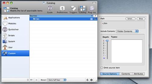 Add ~/bin to QS Catalog