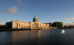 The Custom House from the south side of the Liffey