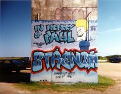 West Island Mural Sept 1996 (krseward) Tags: film graffiti holga mural massachusetts newengland southcoast vanishingworld fairhavenma