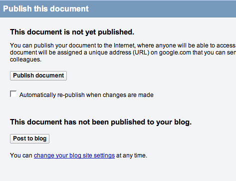 Publish this document