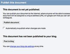 Publish this document