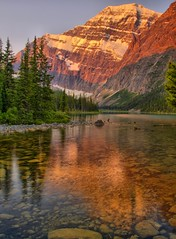 Morning Breeze (Matt Champlin) Tags: morning light summer mountain lake canada cold ice rockies jasper glow wind perspective glacier alberta alpen edith hdr jaspernationalpark canadianrockies apline edithcavell supershot mywinners abigfave aplusphoto diamondclassphotographer flickrdiamond