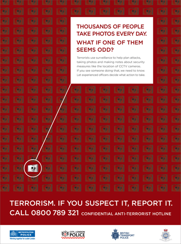photographers as terrorists campaign