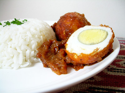 sambal hard boiled egg