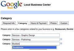 Choosing Categories in Google Local Business Center