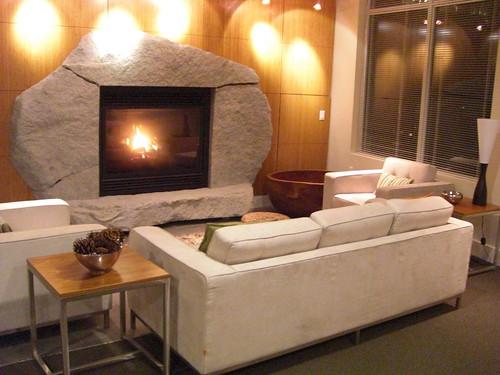 ソファ&暖炉