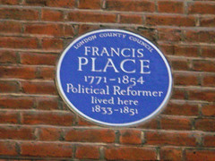 Photo of Francis Place blue plaque