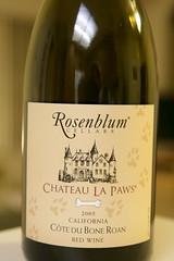 2005 Rosenblum Château La Paws Côte du Bone Roan