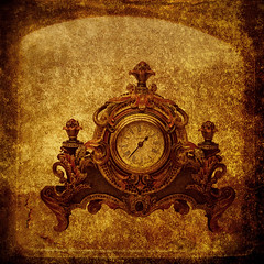 1:37 (Rose Mist) Tags: stilllife texture clock photoshop layers gbr bsquare stilllifeart fakettv artlibre rosemist alarecherchedutempperdu