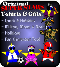 Super Stars T-shirts, Gifts, and More!
