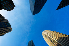 Charlotte, NC. (Christopher Wallace) Tags: city sky beautiful buildings nc amazing nikon pretty commerce skyscrapers charlotte gorgeous d70s northcarolina wideangle tall aweinspiring superwideangle blye ultrawideangle 14mm speedweek