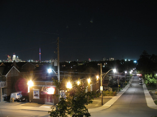 View from Regal Road Public School - Looking Down Bristol Avenue