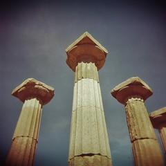 Athena's columns (sonofwalrus) Tags: holga film lomo lomography scan behramkale turkey middleeast templeofathena temple columns pillars ruins