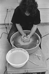 . (Cadmeus) Tags: white black art film wheel photography ceramics potter manual nikkormat ft2 400tmax