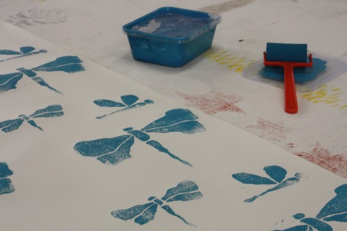 Block Printing Wallpaper with Kylie Budge at the studio