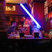 Blue lightsabre in the pub
