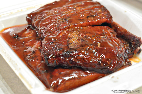 Full Slab Pork Ribs at Ted Cook's 19th Hole BBQ ~ Minneapolis, MN