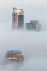 foggy South Loop (Rasidel Slika) Tags: weather fog clouds buildings foggy atmosphere environment southloop