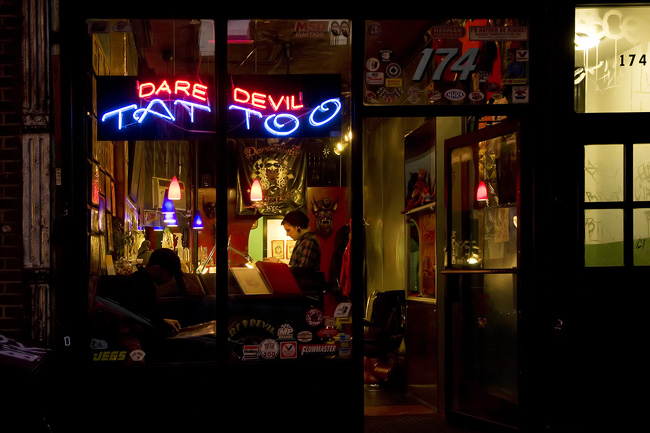Dare devil tattoo, Lower East Side